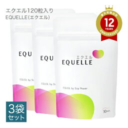 <strong>エクエル</strong> <strong>パウチ</strong> <strong>120粒</strong> <strong>3個セット</strong> エクオール <strong>送料無料</strong> 【即〜3営業日出荷】 大塚製薬 【正規流通品】 【メール便】