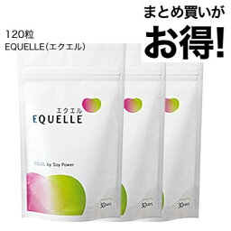 <strong>エクエル</strong> <strong>パウチ</strong> <strong>120粒</strong>×3袋 大塚製薬【1〜3営業日出荷】 エクオール 大豆イソフラボン サプリ <strong>3個セット</strong> EQUELLE 【おすすめ】【メール便】