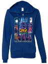 cosmic 衣類 スウェット パーカー California Cosmic Flag Logo In Space Galaxy Ladies Lightweight Fitted Zip-Up Hoodie