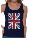 ショッピングKINGDOM 衣類 トップス Awkward Styles Jack Flag Tank Top Stylish T Shirt for Ladies Tank Top for Girlfriend Patriotic Shirt United Kingdom Flag Shirt for Her England Lovers Tank Top for Sister New England