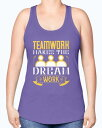 衣類 トップス Teamwork makes the dream work -Coaching -Racerback Tank
