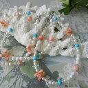 ピンク・白珊瑚の選べるブレスレットSILVER.925/アジャスター