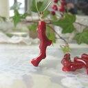 高知産血赤珊瑚枝のペンダントップK18/人気の「アカ」【送料無料】【smtb-KD】