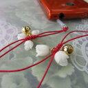 白珊瑚薔薇のつぼみのスマホアクセサリー・イヤホンジャック・携帯・手作り
