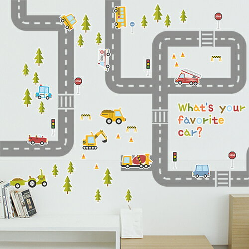 ホームインテリア _ ウォールステッカー、キッズ、車、学習、遊ぶ、子ども、子供部屋