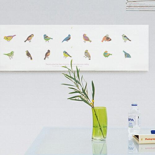 ファブリックパネル キャンバス オリジナル 鳥 動物 北欧