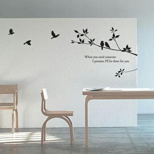 ウォールステッカー _ 木、ナチュラル、北欧、鳥