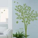 ウォールステッカー 木 はがせる 壁 窓 リフォーム 北欧 転写 木 リビング 壁シール wallsticker インテリアシール カフェ ナチュラル 鳥 寝室 キッズ 子ども部屋 サンサンフー 木のある風景