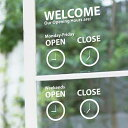 RoomClip商品情報 - ウォールステッカー 貼ってはがせる キッチン トイレ 1万円以上で送料無料 DIY ステッカー シール式 装飾 sticker オープン/クローズ・アナログ