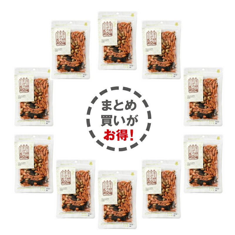 柿の種・辛味噌味大豆・サクサク昆布ミックス65g×10Pお菓子/和菓子/お茶菓子/プレゼント/お土産