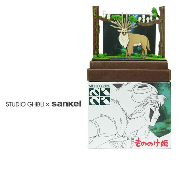 【シシ神の森】もののけ姫スタジオジブリmini◆紙模型(ペーパークラフト/キット)◆インテ…...:sankeishop:10001136