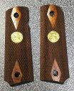 MULE CAW NRAメダル付き ダイヤチェッカー 木製グリップ WA/マルイ/マルゼン/KSC/MGC GM M1911用 6800