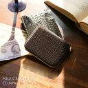クロコダイル コンパクト 財布 マット 加工 メンズ ヘンローン ラウンドファスナー 全15色