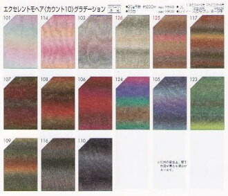 Excellent mohair [count 10: gradient