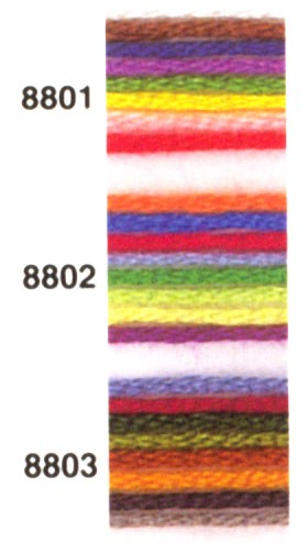 Embroidery thread (8 color colorful)