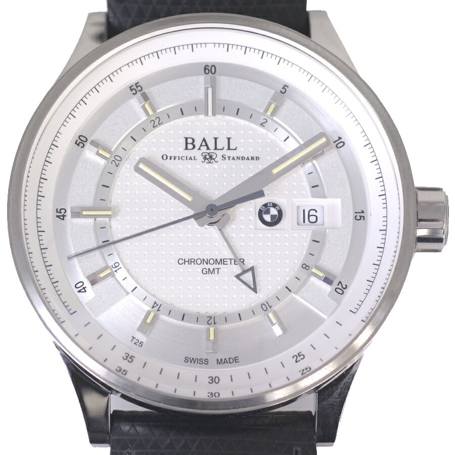Pre owned ball for bmw gmt gm3010c pcfj sl automatic silver dial men 39 s watch md ebay for Ball watches