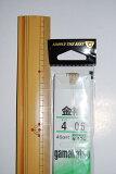 【5枚セット】がまかつ(gamakatsu) 川釣り 糸付針 金袖 4-0.6 【メール便発送可】 (M-IH)