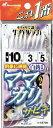 ハヤブサ(Hayabusa)サビキ 【HS-730】これ一番 ママカリサビキ 白袖 8本鈎 5〜10号 fs04gm 【メール便発送可】  (SBK)
