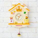 ポムポムプリン デコラティブ振り子時計
