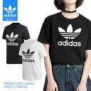 adidas Originals TREFOIL LOGO T-SHIRTS / アディダス オリジナルス レディース トレフォイル Tシャツ TEE インナー シンプル 無地 白 黒 ブラック ホワイト
