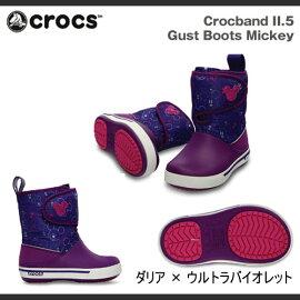【キッズ・ジュニア】クロックスクロックバンド2.5ガストブーツミッキーCrocsCrocband2.5GustBootsMickey【RCP】