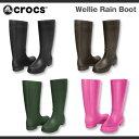 【超目玉 残り僅か!】【レディース】クロックス ウェリー レインブーツ Crocs Wellie Rain Boot Women ブーツ 長靴 レインブーツ