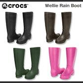 【レディース】クロックス ウェリー レインブーツCrocs Wellie Rain Boot Womenブーツ 長靴 レインブーツ/送料無料