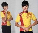 【中華制服】中華服 中華風祥雲制服上着 七分袖 M チャイナドレス B5032M2