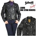 SCHOTT ショット レディース 218W WOMENS LAMB ONE STAR RIDERS ラム ワンスターライダースジャケット レザージャケット Made in USA 2..