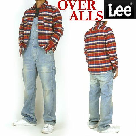 Lee リー メンズ オーバーオール OVER ALL 薄めのユーズドブルー ダンガリーズ LM4254 送料無料