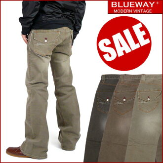 BLUEWAY (blueway ) M1075 - ローライズブーツカット stretch -