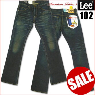 LEE (Lee ) - 102 / Boot Cut (bootcut ) - Used536 / dark because of the distressed blue LM4102-American Riders 2-