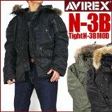 【消费税本店负担】AVIREX(avirekkusu)N-3B (Tight N-3B MOD)-真毛配置-【小的尺寸?男士】【大尺寸?男士】【smtb-k】【ky】[【20%OFFセール】 AVIREX (アビレックス) N-3B (Tight N-3B MOD) -リアルファー仕様-