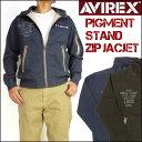 【送料無料】 AVIREX (アビレックス) PIGMENT STAND ZIP JACKET/ピグメントスタンドジップジャケット -フルジップスウェット- 614335..