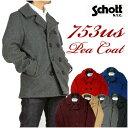 Schott ショット Pコート ピーコート ウール メルトン PEACOAT メンズ Made in USA 753US 740N 7118