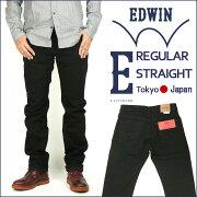 30%OFFセール EDWIN (エドウィン) E STANDARD/E スタンダード-ED03/ブラック- レギュラーストレート 【送料無料】