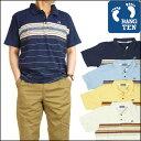 【20%OFFセール】 HANG TEN (ハンテン)半袖ポロシャツ -マルチボーダー/TM6399-【10P03Dec16】