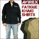 AVIREX (アビレックス) FATIGUE KHAKI SHIRTS -ファティーグ カーキシャツ/長袖シャツ- 6165138 【送料無料 】 mtl-s...