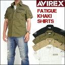 AVIREX アビレックス 半袖シャツ ファティーグ カーキシャツ メンズ ミリタリーシャツ 6175093