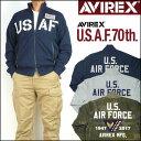 アビレックス AVIREX メンズ アメリカ空軍70周年記念モデル サーモライト スタンドジップ スウェット USAF 70th ANNIVERSARY 6173436 ..