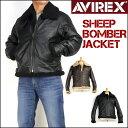 セール AVIREX アビレックス メンズ レザージャケット シープスキン B-3 ボンバー ジャケット 革ジャン 6171089 送料無料