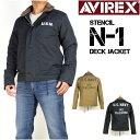 セール AVIREX アビレックス メンズ N-1 ジャケット ステンシル N-1 デッキジャケット 6172135