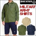 HOUSTON ヒューストン メンズ シャツ アーミーシャツ...