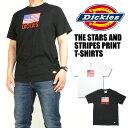 セール DICKIES ディッキーズ メンズ Tシャツ 星条旗プリントTシャツ 半袖Tシャツ 182M30WD24