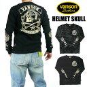 ショッピングヘルメット VANSON バンソン メンズ Tシャツ サーマル 長袖Tシャツ HELMET SKULL 送料無料 プレゼント ギフト NVLT-809