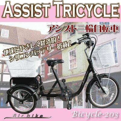 付きアシスト三輪電動自転車 ...