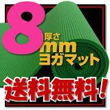 【!】【レビュー書き込みでさらに専用メッシュケースをプレゼント!】厚さ8mm ヨガマットクッション性抜群!! (厚さ8mm yogamat)