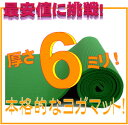 【最安値挑戦!】【今ならさらに専用メッシュケースをプレゼント!】厚さ6mm ヨガマットクッション性抜群!! (厚さ6mm ヨガマット yogamat)