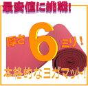 【最安値挑戦!】【レビュー書き込みでさらに専用メッシュケースをプレゼント!】厚さ6mmヨガマットクッション性抜群!! (厚さ6mm ヨガマット yogamat)