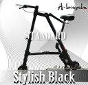 ★チューブレス!★新色オールブラック登場!A-Bicycle Black(A-bike・Aバイク・A-バイク・A-Ride・A-ライド型)超軽量5.5キロの折りたたみ自転車(折り畳み自転車 折畳み自転車)!チューブレス仕様